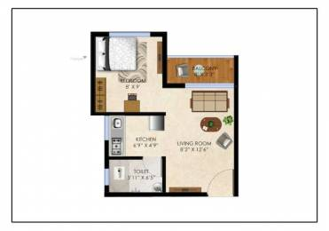610 sqft, 1 bhk Apartment in Olympeo Riverside Phase 2 Neral, Mumbai at Rs. 19.9308 Lacs