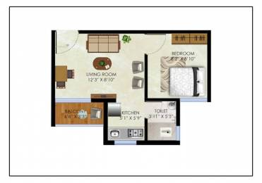 620 sqft, 1 bhk Apartment in Olympeo Riverside Phase 2 Neral, Mumbai at Rs. 19.9308 Lacs