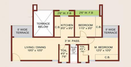 1242 sqft, 2 bhk Apartment in Neelsidhi Amarante Kalamboli, Mumbai at Rs. 14000