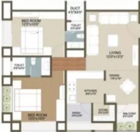 1215 sqft, 2 bhk Apartment in Samved Alpine Heights Navrangpura, Ahmedabad at Rs. 23000
