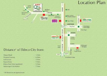 729 sqft, 2 bhk Apartment in Builder Eldeco city IIM road IIM Road, Lucknow at Rs. 25.6880 Lacs