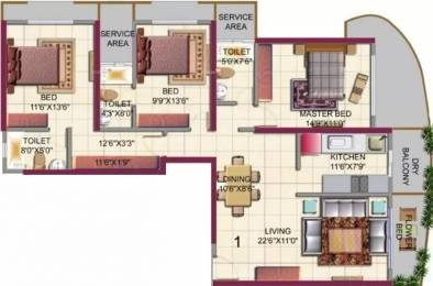 1650 sqft, 3 bhk Apartment in HDIL Metropolis Residences Andheri West, Mumbai at Rs. 3.4000 Cr