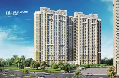 747 sqft, 3 bhk Apartment in Dosti West County Phase 2 Dosti Cedar Thane West, Mumbai at Rs. 1.0854 Cr