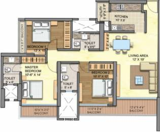 1740 sqft, 3 bhk Apartment in Runwal Greens Mulund West, Mumbai at Rs. 51000