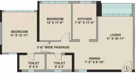 1143 sqft, 2 bhk Apartment in Kalpataru Aura Ghatkopar West, Mumbai at Rs. 55000