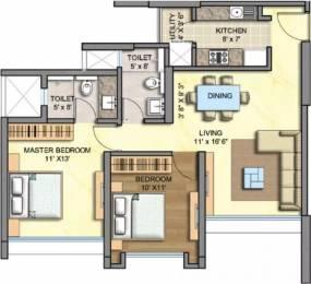 1165 sqft, 2 bhk Apartment in Runwal Greens Mulund West, Mumbai at Rs. 45000