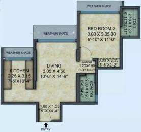 574 sqft, 1 bhk Apartment in Mayfair Hillcrest Vikhroli, Mumbai at Rs. 34000