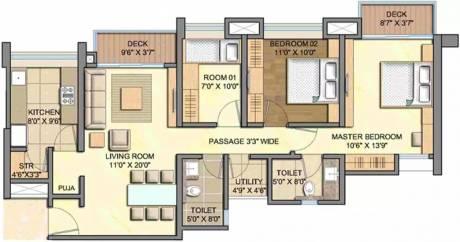 1404 sqft, 3 bhk Apartment in Lodha Aurum Grande Kanjurmarg, Mumbai at Rs. 70000