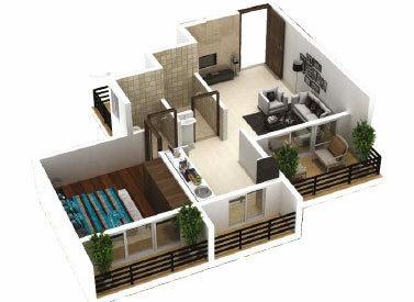 675 sqft, 1 bhk Apartment in Gurukrupa Aramus Realty Ulwe, Mumbai at Rs. 50.0000 Lacs