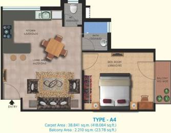 543 sqft, 1 bhk Apartment in Lotus Homz Sector 111, Gurgaon at Rs. 17.0000 Lacs