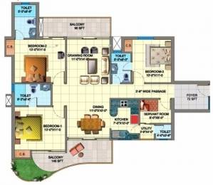 1695 sqft, 3 bhk Apartment in SDS NRI Residency Sector 45, Noida at Rs. 1.0800 Cr