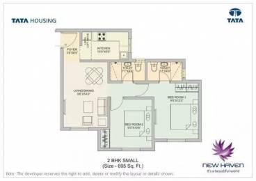 695 sqft, 2 bhk Apartment in TATA New Haven Boisar, Mumbai at Rs. 24.0000 Lacs