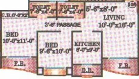 965 sqft, 2 bhk Apartment in Leena Bhairav Residency Mira Road East, Mumbai at Rs. 75.0000 Lacs