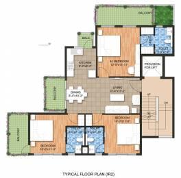 1555 sqft, 3 bhk Apartment in Raheja Ayana Residences Sector 79, Gurgaon at Rs. 86.0000 Lacs