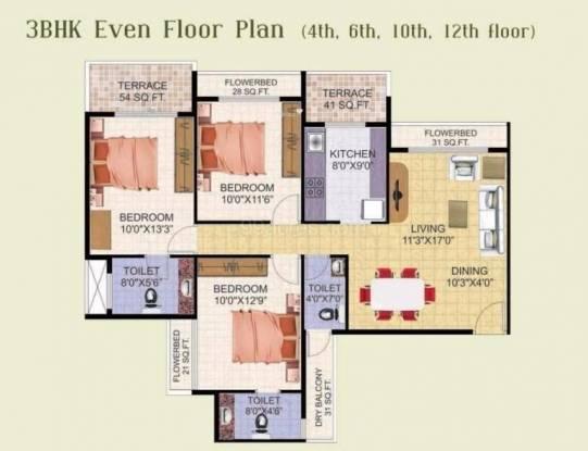1590 sqft, 3 bhk Apartment in Shree Balaji Om Harmony Kharghar, Mumbai at Rs. 1.2500 Cr