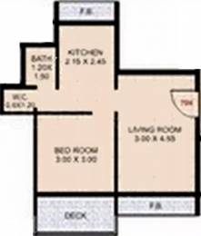 719 sqft, 1 bhk Apartment in Vihar Sai Vihar CHS Kharghar, Mumbai at Rs. 68.0000 Lacs