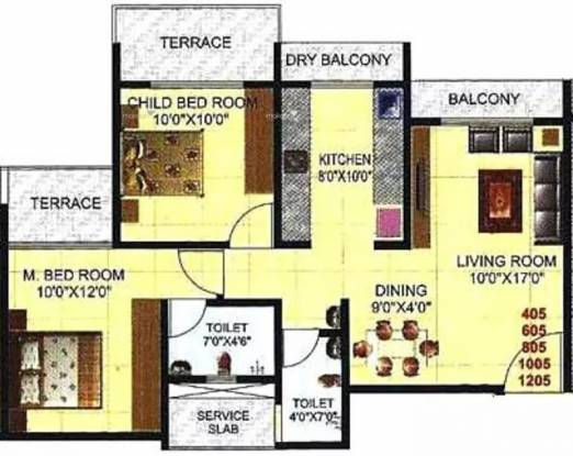 1185 sqft, 2 bhk Apartment in Shree Ambica Heritage Kharghar, Mumbai at Rs. 1.1600 Cr