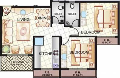 1060 sqft, 2 bhk Apartment in Sai Manomay Kharghar, Mumbai at Rs. 95.0000 Lacs