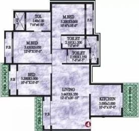 1458 sqft, 3 bhk Apartment in Sai Yashvasin Kharghar, Mumbai at Rs. 1.3500 Cr