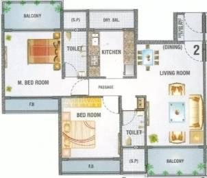 1160 sqft, 2 bhk Apartment in Aristo Usha Heights Kharghar, Mumbai at Rs. 1.0000 Cr