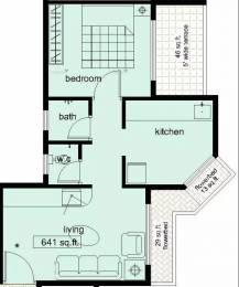 641 sqft, 1 bhk Apartment in Swaraj Symphony Kharghar, Mumbai at Rs. 51.0000 Lacs