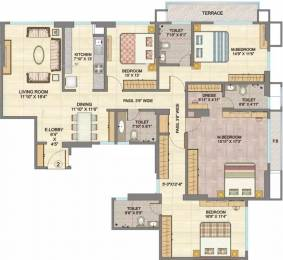 2450 sqft, 4 bhk Apartment in Hubtown Sunmist Andheri East, Mumbai at Rs. 1.5000 Lacs