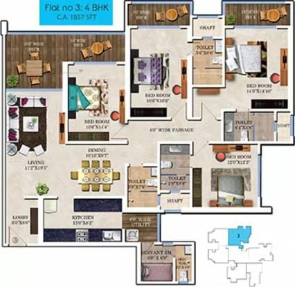 2414 sqft, 4 bhk Apartment in Bharat Skyvistas Andheri West, Mumbai at Rs. 1.7000 Lacs