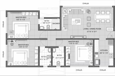 1404 sqft, 3 bhk Apartment in Samyakth BIiss Khar, Mumbai at Rs. 1.5000 Lacs