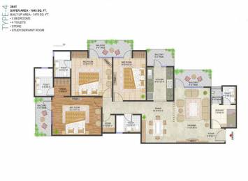 1845 sqft, 3 bhk Apartment in Prateek Stylome Sector 45, Noida at Rs. 25000