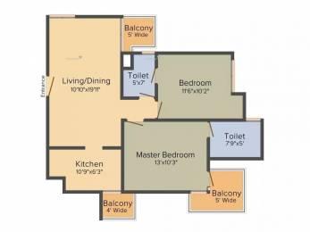 1000 sqft, 2 bhk Apartment in BPTP Spacio Park Serene Sector 37D, Gurgaon at Rs. 50.0000 Lacs