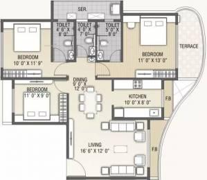 1500 sqft, 3 bhk Apartment in B and M Atlantis Ghansoli, Mumbai at Rs. 1.5000 Cr