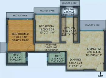 851 sqft, 2 bhk Apartment in Mayfair Hillcrest Vikhroli, Mumbai at Rs. 55000