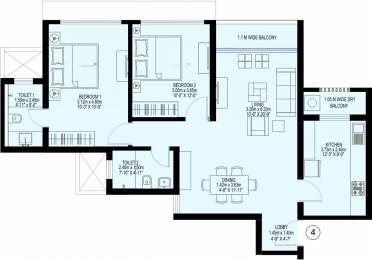 1097 sqft, 2 bhk Apartment in Sea Gundecha Trillium Kandivali East, Mumbai at Rs. 1.9500 Cr