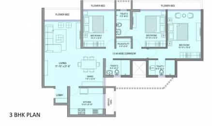 1514 sqft, 3 bhk Apartment in Sea Gundecha Premiere Kandivali East, Mumbai at Rs. 2.8500 Cr