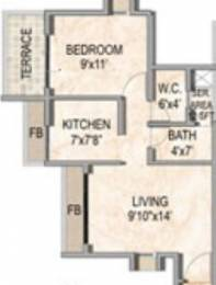 710 sqft, 1 bhk Apartment in Akshar Valencia Kalamboli, Mumbai at Rs. 48.0000 Lacs