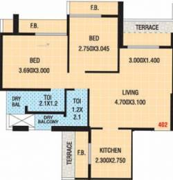 1120 sqft, 2 bhk Apartment in Naman Bhumika Heights Kharghar, Mumbai at Rs. 85.0000 Lacs