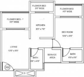 705 sqft, 1 bhk Apartment in Mohan Highlands Badlapur East, Mumbai at Rs. 5000