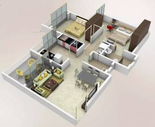 985 sqft, 2 bhk Apartment in Arihant Akriti Badlapur West, Mumbai at Rs. 6000