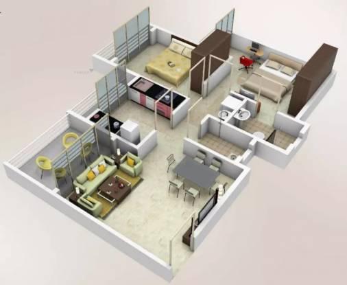 985 sqft, 2 bhk Apartment in Arihant Akriti Badlapur West, Mumbai at Rs. 6000