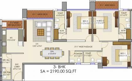 2190 sqft, 3 bhk Apartment in Runwal Elegante Andheri West, Mumbai at Rs. 4.9500 Cr