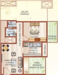 756 sqft, 1 bhk Apartment in Shree Heritage Kalamboli, Mumbai at Rs. 58.0000 Lacs
