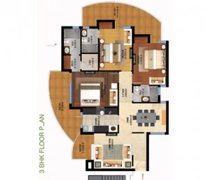 1800 sqft, 3 bhk Apartment in Fortune Fortune Victoria Heights Peer Muchalla, Zirakpur at Rs. 55.0000 Lacs
