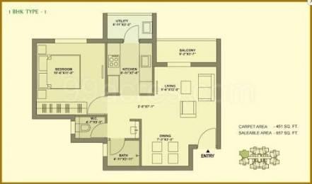 649 sqft, 1 bhk Apartment in TATA Ariana Kalinga Nagar, Bhubaneswar at Rs. 38.0000 Lacs