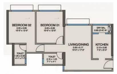 865 sqft, 2 bhk Apartment in Kanakia Codename Future A Powai, Mumbai at Rs. 1.9900 Cr