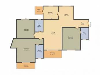 1637 sqft, 3 bhk Apartment in TATA Ariana Kalinga Nagar, Bhubaneswar at Rs. 11500