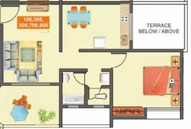 631 sqft, 1 bhk Apartment in Mantra Majestica Hadapsar, Pune at Rs. 37.0000 Lacs