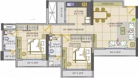 1060 sqft, 2 bhk Apartment in Fenkin Belleza Thane West, Mumbai at Rs. 1.0500 Cr