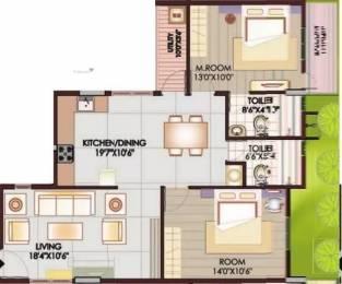1075 sqft, 2 bhk Apartment in Rainbow Waterfront Uttarahalli, Bangalore at Rs. 15000