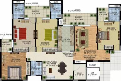 2410 sqft, 4 bhk Apartment in SBP Southcity VIP Rd, Zirakpur at Rs. 62.7500 Lacs