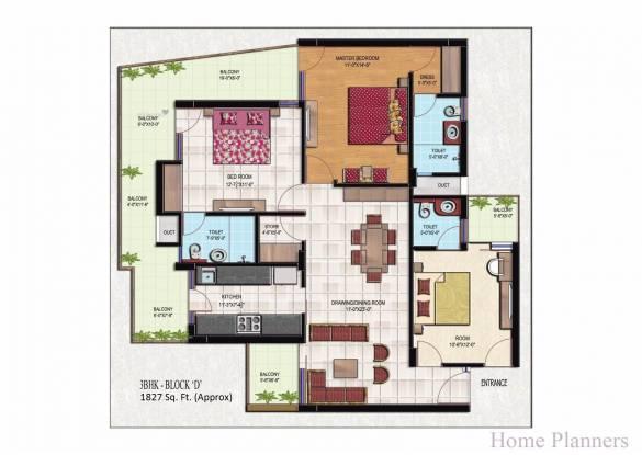 1827 sqft, 3 bhk Apartment in Golden Apartments Dhakoli, Zirakpur at Rs. 57.3500 Lacs